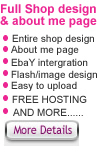 Ebay Shop Design & about me page