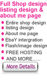 Ebay Shop Design, listing design & about me page